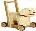 labrador push along baby walker toy