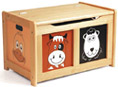 farm design wooden toy box