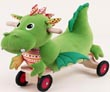 puffy dragon ride on soft baby toys